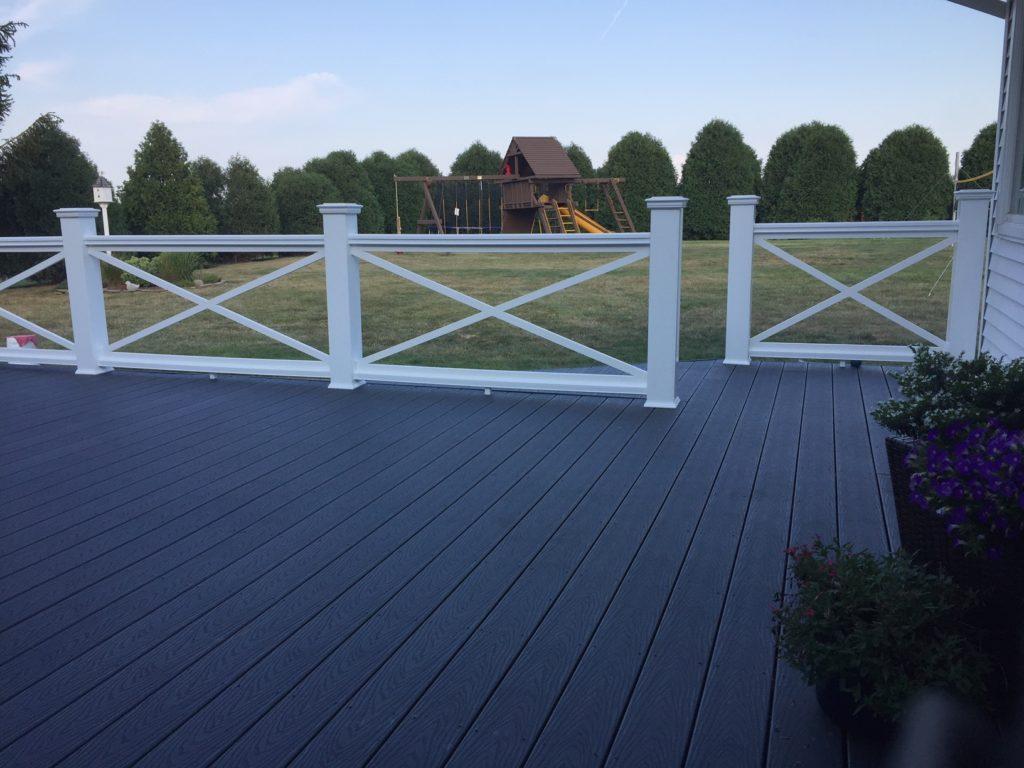 custom panels used on deck for aesthetics