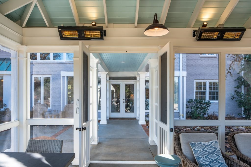 Bellemeade TN screened porch with breezeway