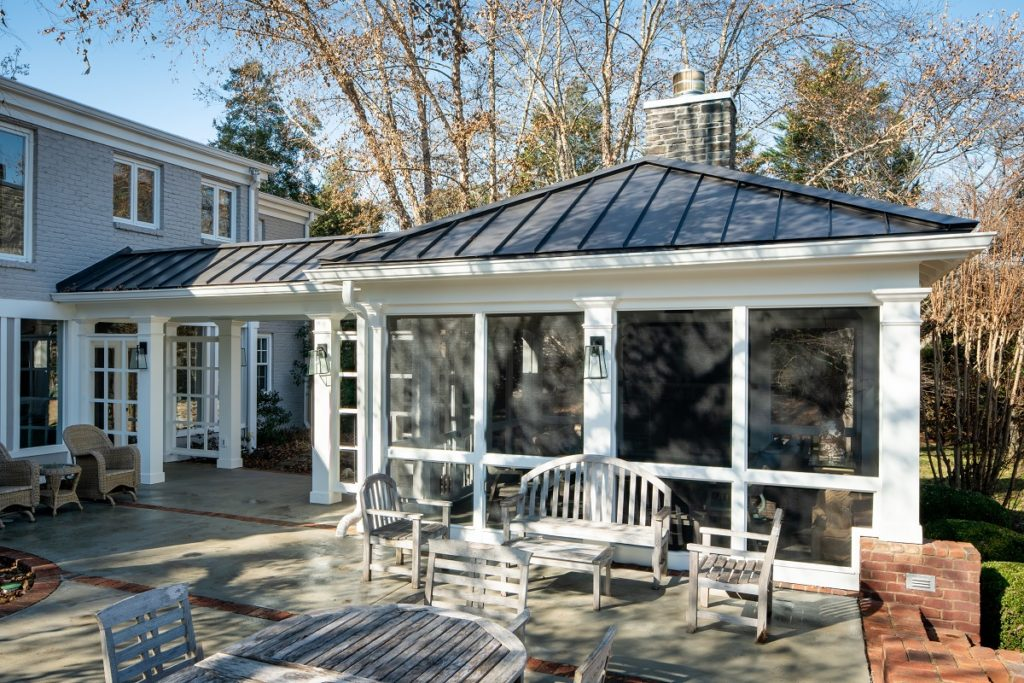 bellemeade custom porch with breezeway