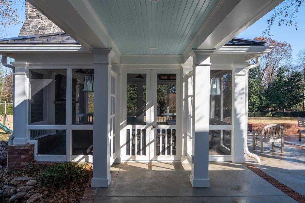 custom breezeway off bellemeade screened porch
