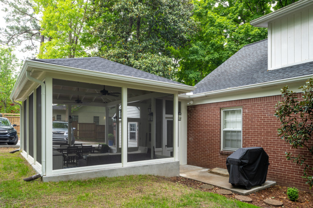 South Nashville screened porch design by The Porch Company