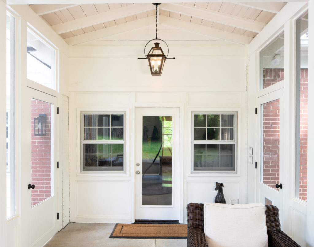An impactful designer appeal was afforded this home with the breezeway addition