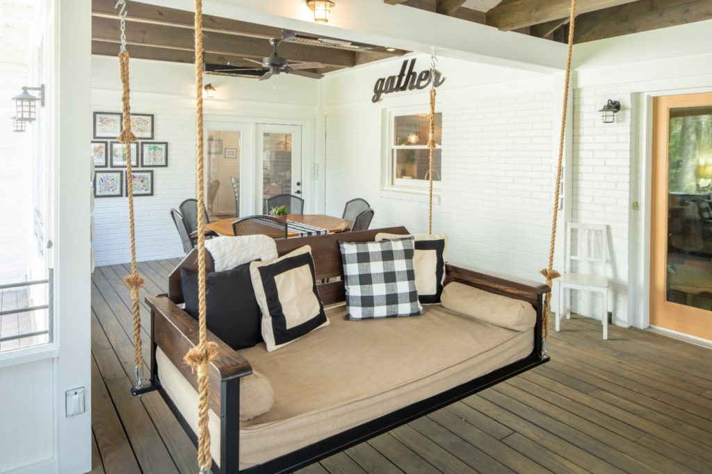 Cool and comfortable porch co custom swing bed