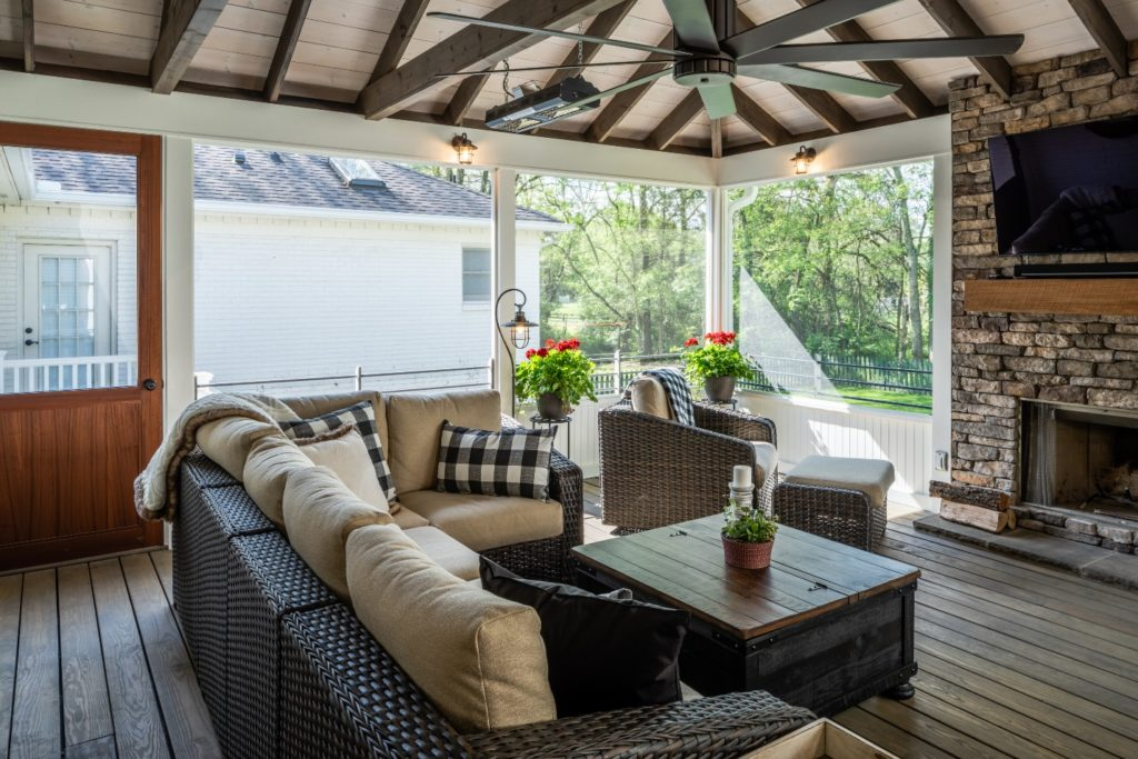 Forest Hills TN screened porch design