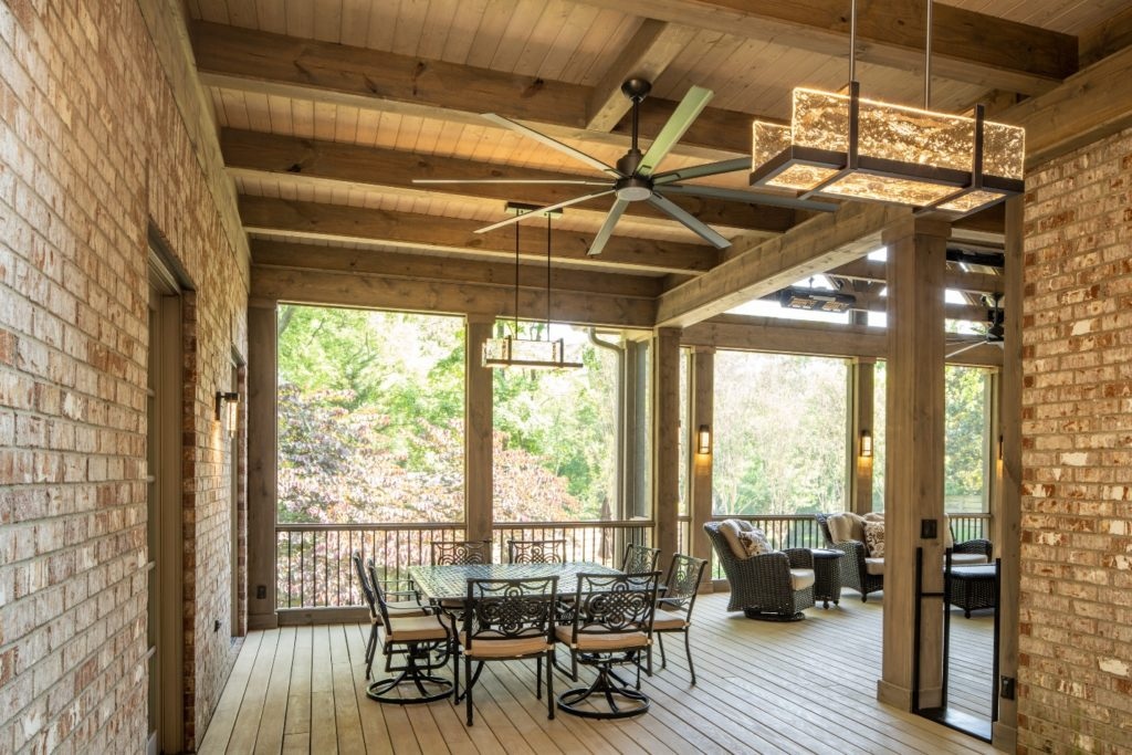 open rafter porch design in Green Hills TN