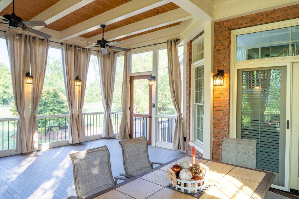 Designer West Nashville screened porch
