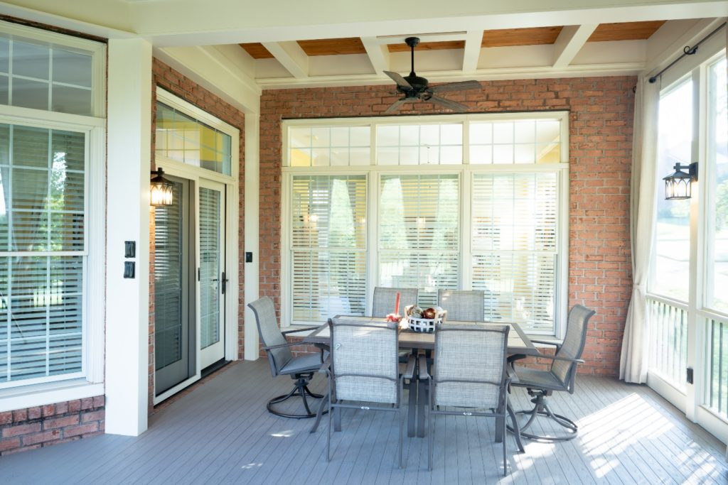Outdoor dining, refined by The Porch Company
