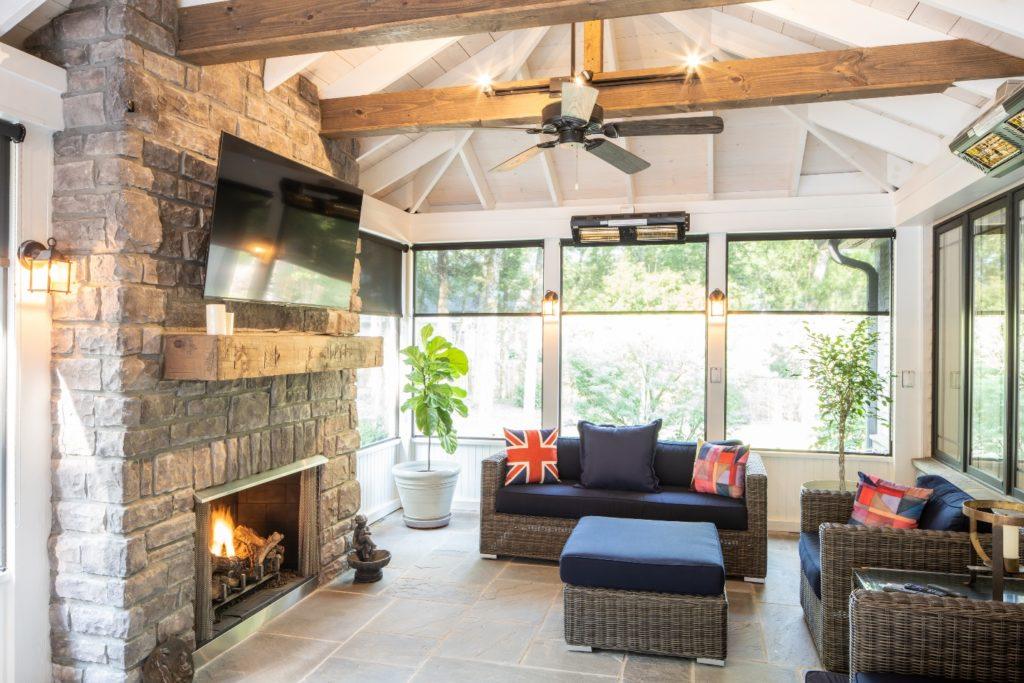 Screened porch interior in Franklin TN
