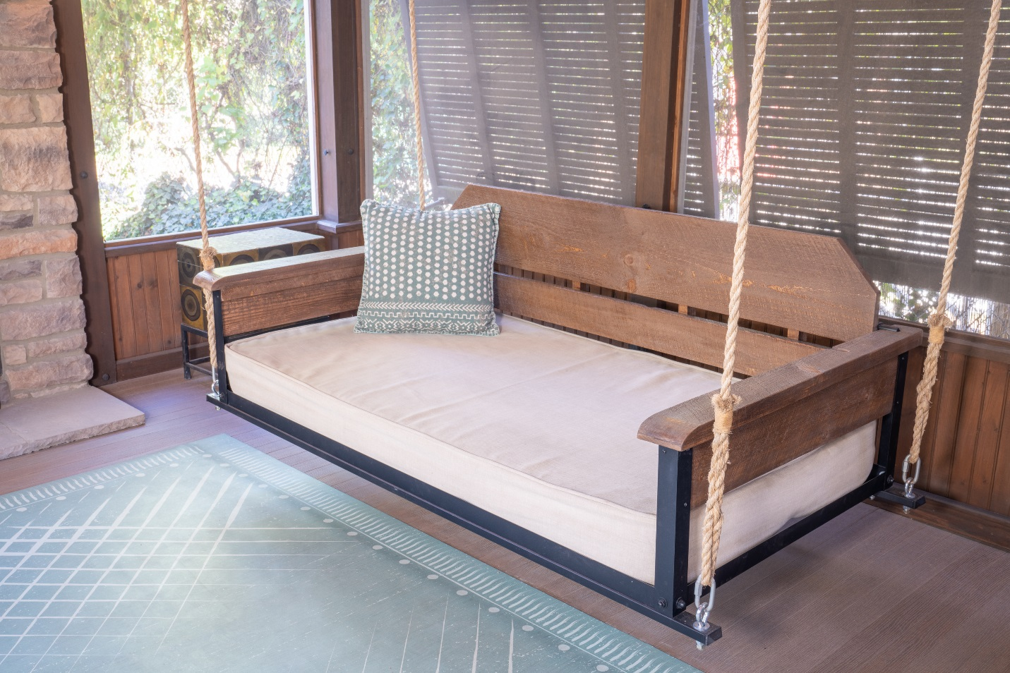 Cottage style Porch swing bed by PorchCo