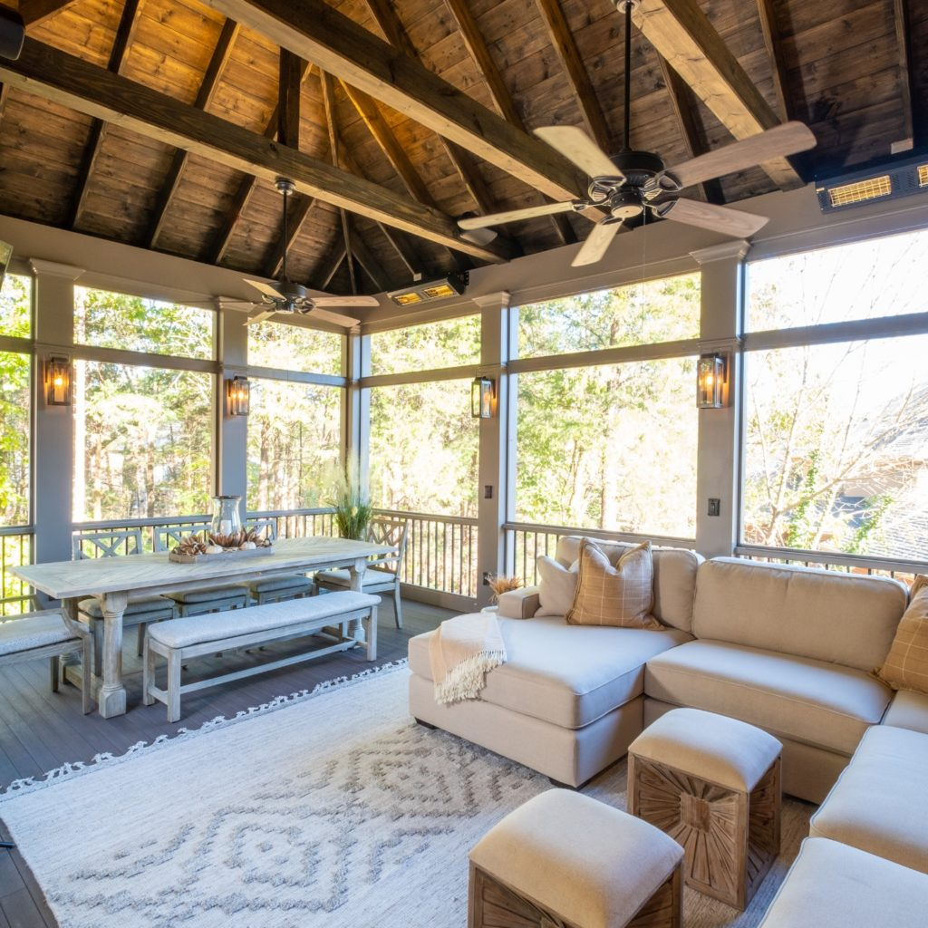 Brentwood Tennessee screened porch design