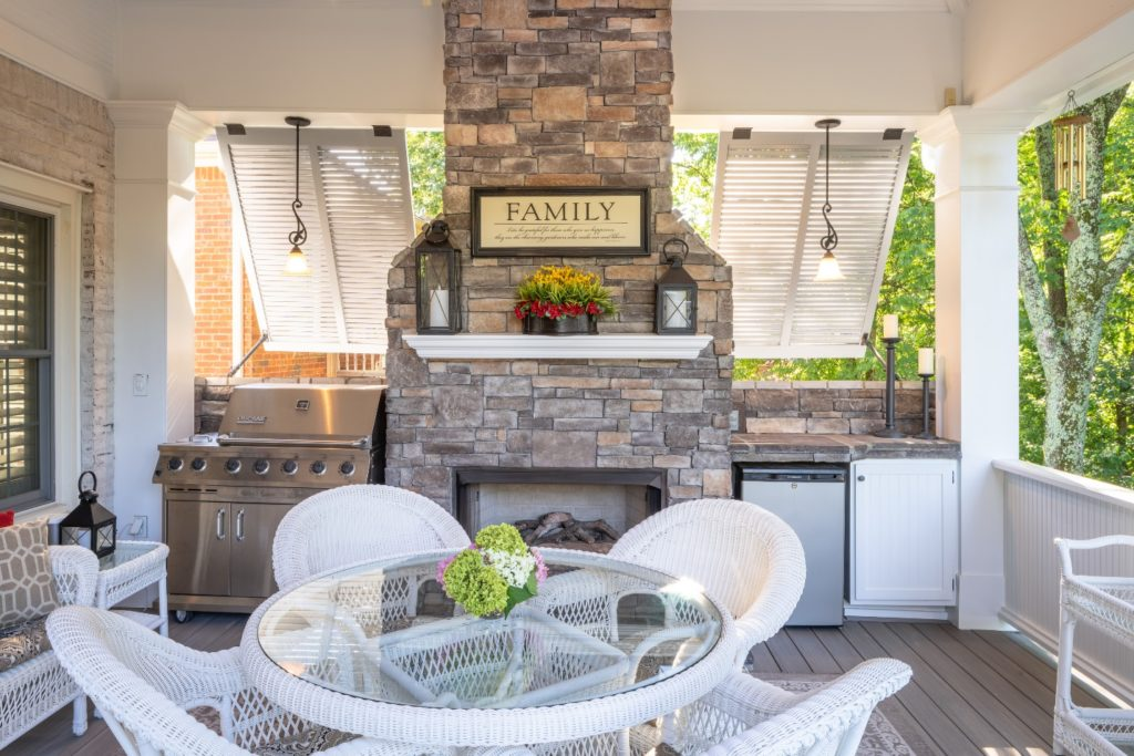 Fabulous porch design in Green Hills TN
