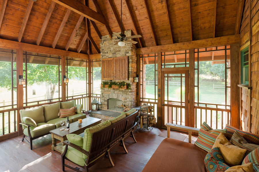 Rustic Inspired Screened Porch The Porch Company