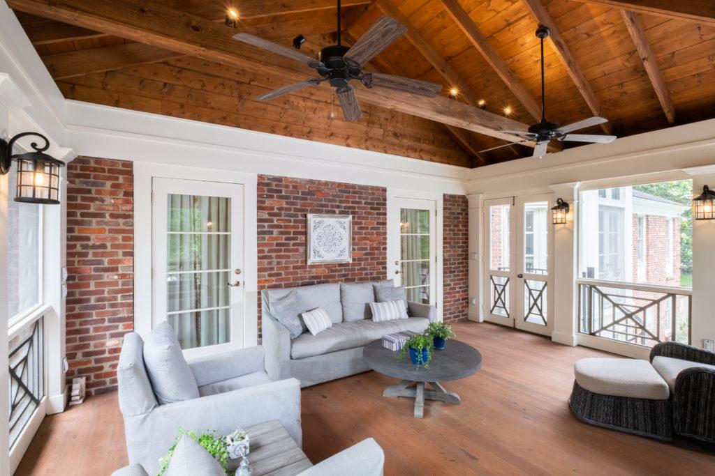 Southern cross porch cypress floor