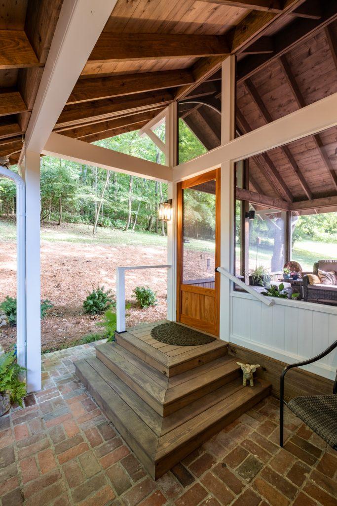Sapele wooden door West Meade TN screened porch