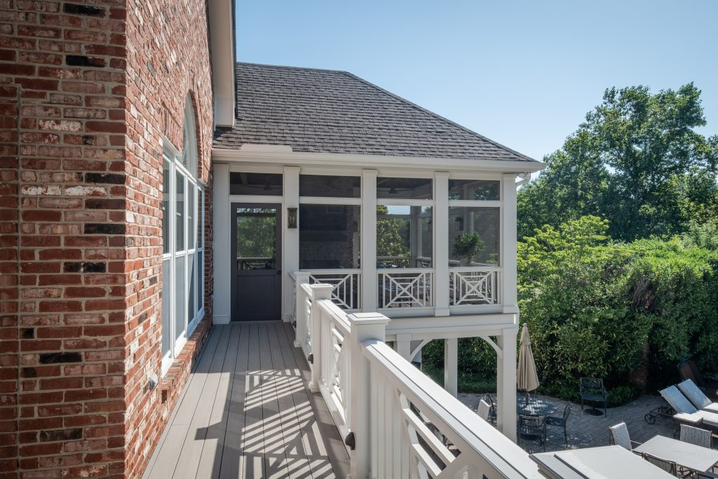 Exterior view of Brentwood screened porch