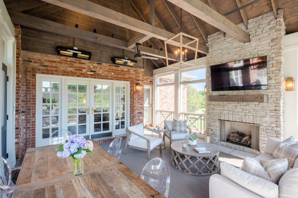 Brentwood custom screened porch builders