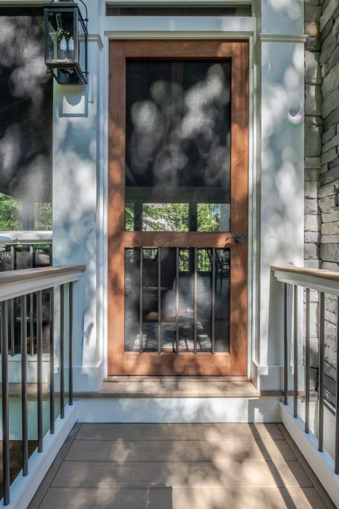custom Sapele screened porch door