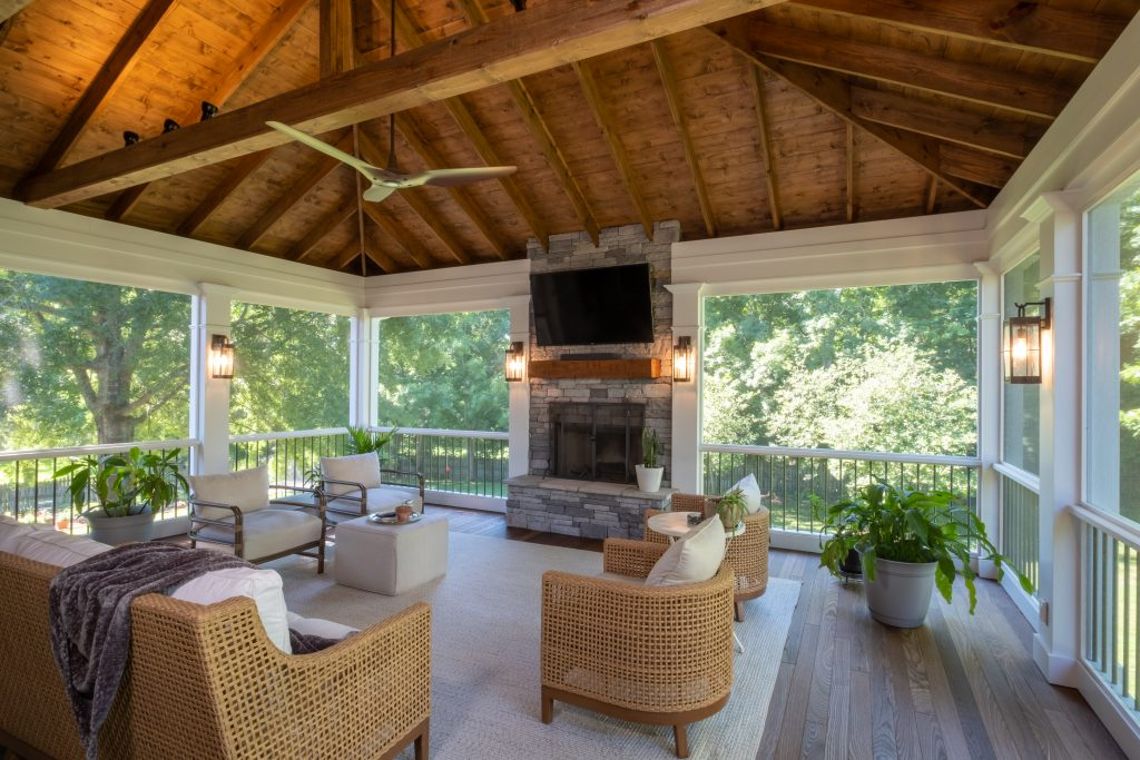 Franklin screened porch builders
